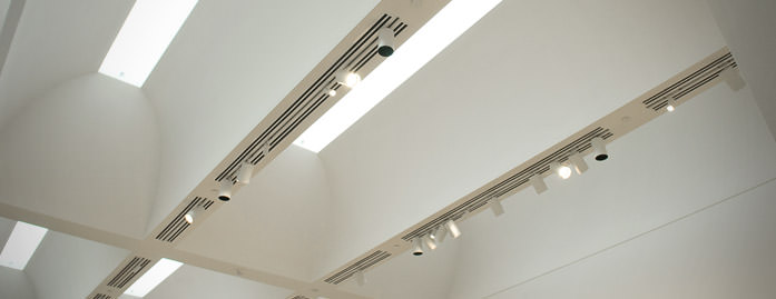 Fourth floor gallery skylights