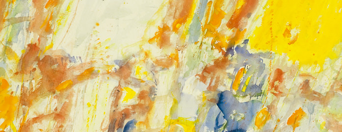 Sam Francis – Composition: Yellow and Red (detail), 1956.|© 2009 Sam Francis Foundation, California / Artists Rights Society (ARS), NY